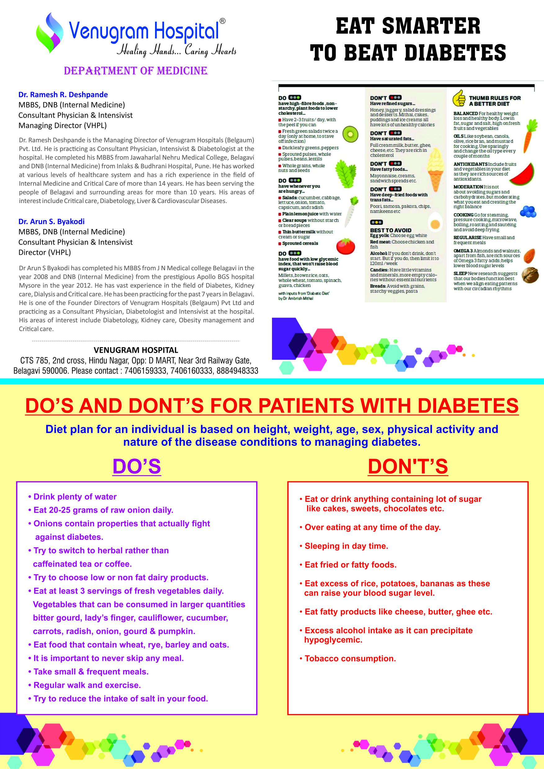 Dos & Donts of diabetes